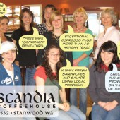 Scandia Coffeehouse, postcard