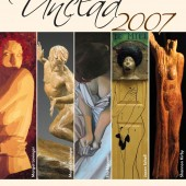 Unclad Art Show, postcard and logo